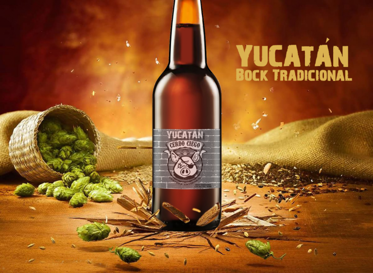 Cerveza Cerdo Ciego - Botella Yucatán